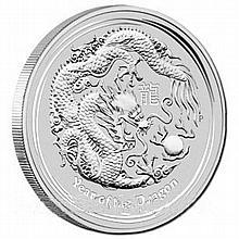 Australian Lunar Silver 10 oz Silver Coin Series II 2012 Dragon - L18179