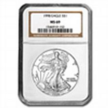 1998 Silver American Eagle (NGC MS-70) - L22721