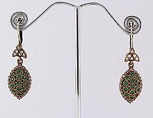 Natural Stone Antique Design Dangle Earring - L23073