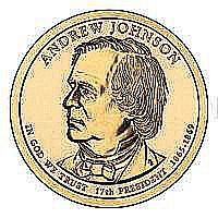 Presidential Dollars Andrew Johnson 2011-D 25 pcs (Roll) - L19426
