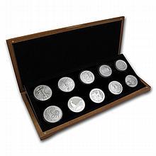 2013 1 oz - 10 Coin Around the World Silver Bullion Set - L22513