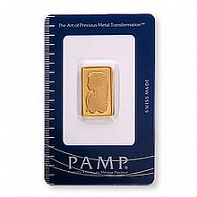 Gold Bars: Pamp Suisse 10 Gram Gold Bar - L21637