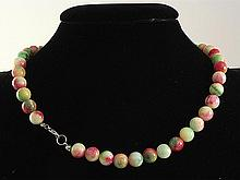 Natural Rainbow Jade 316.00ctw Necklace with Metal Lock - L22007