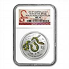 2013 1 oz Silver Year of the Snake Berlin Money Fair NGC MS-70 - L24990