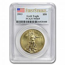 2013 1 oz Gold American Eagle MS-69 PCGS First Strike - L22432