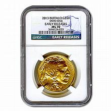 Certified Uncirculated Gold Buffalo One Ounce 2013 MS70 - L21612