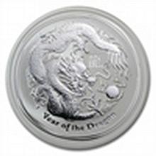 2012 2 oz Silver Australian Lunar Year of the Dragon Coin - L25002