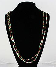 238.00CTW 31in. MULTI-COLOR LONG STRAND PEARL NECKLACE - L19216