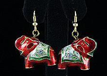 6.47GRAM INDIAN HANDMADE LAKH ELEPHANT EARRING - L19314