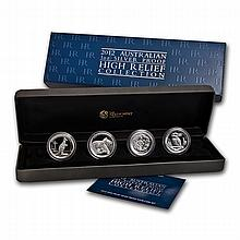 2012 1 oz Proof Silver Australian High Relief Collection - L25042