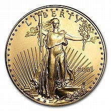 2001 1 oz Gold American Eagle - Brilliant Uncirculated - L22461
