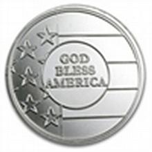 1 oz God Bless America Silver Round - L24700
