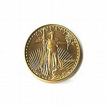 Uncirculated One-Tenth Ounce 1990 US American Gold Eagle - L18093