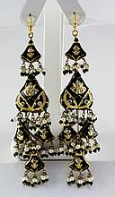 21.23GRAM INDIAN HANDMADE LAKH FASHION EARRING - L19378