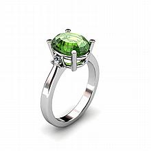 Tourmaline 2.90ctw Ring 14kt White Gold - L11080
