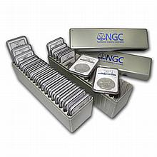 1986-2012 Silver American Eagle Set NGC (MS-69) 2 NGC Boxes 27 Silver Eagles - L19543