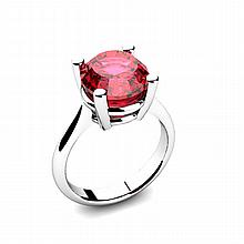 Garnet 5.75ctw Ring 14kt White Gold - L11012
