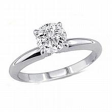 1.00 ct Round cut Diamond Solitaire Ring, I-J, SI2 - L11531