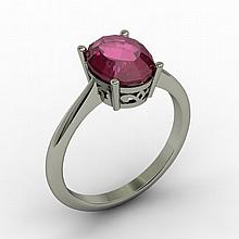 Ruby 2.20 ctw Ring 14kt White Gold - L15267