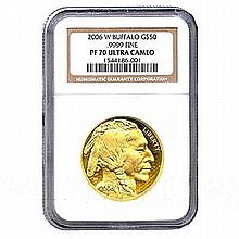 Certified Proof Buffalo Gold Coin 2006-W PF70 Ultra Cameo - L18120