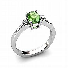 Tourmaline 0.98ctw Ring 14kt White Gold - L11044