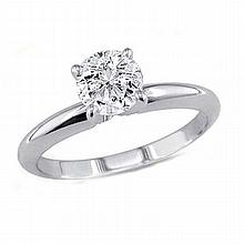 0.25 ct Round cut Diamond Solitaire Ring, G-H, VVS - L11499