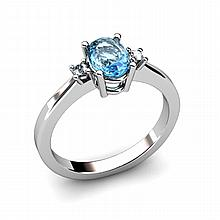 Topaz 1.18ctw Ring 14kt White Gold - L11043