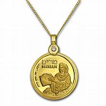 Israel Miriam Gold Necklace - AGW 0.0729 oz - L26633