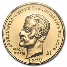 Peru 1979 50,000 Soles Gold Alfonso Ugarte MS-66 NGC - L29054
