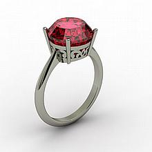 Garnet 5.75 ctw Ring14kt White Gold - L15215