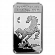 5 oz Year of the Horse Silver Bar .999 Fine - L27930