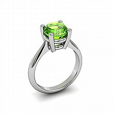 Peridot 2,00ctw Ring 14kt White Gold - L11001