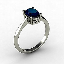 Sapphire 1.55 ctw Ring 14kt White Gold - L15256