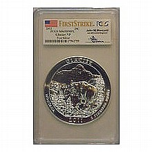 2011 5 oz Silver ATB Glacier MS-69 DMPL First Strike PCGS - L24828