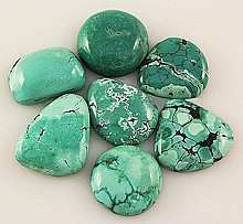 Natural Turquoise 171.05ctw Loose Small Gemstone Lot of 7 - L21315