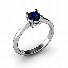 Sapphire 0.65ctw Ring 14kt White Gold - L10964
