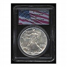 1991 Silver Eagle Gem Uncirculated PCGS WTC Ground Zero Recovery - L22499