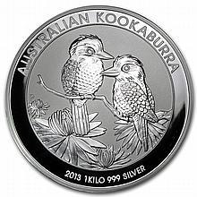 2013 1 Kilo (32.15 oz) Silver Australian Kookaburra - L25086