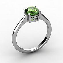 Tourmaline 0.75 ctw Ring 14kt White Gold - L15183