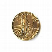 Uncirculated One-Tenth Ounce 1988 US American Gold Eagle - L18095