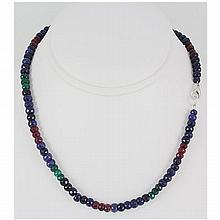 174.63ctw Natural Multi-Color Rondelles Necklace - L15546