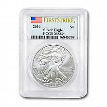 2010 1 oz Silver American Eagle MS-69 PCGS (First Strike) - L22853