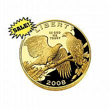 Gold $5 Commemorative 2008 Bald Eagle Proof - L18418