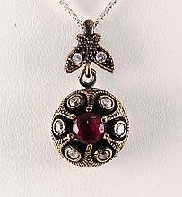 Natural Stone Vintage Victorian Design Pendant - L23137