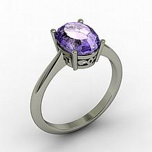 Tanzanite 2.50 ctw Ring 14kt White Gold - L15269