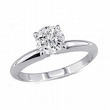 0.60 ct Round cut Diamond Solitaire Ring, G-H, SI2 - L11387