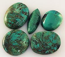 Natural Turquoise 192.49ctw Loose Small Gemstone Lot of 5 - L21345
