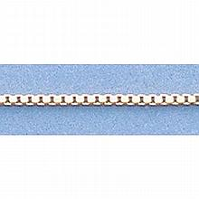 Pure Gold 16 14kt Italian Gold-Yellow or White 0.9mm, Box Chain Gauge:054, 1.7gr - L11207