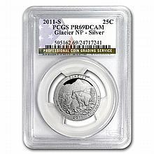 2011-S Silver Quarter ATB Glacier PR-69 DCAM PCGS - L24846