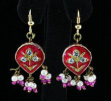3.45GRAM INDIAN HANDMADE LAKH FASHION EARRING - L19320